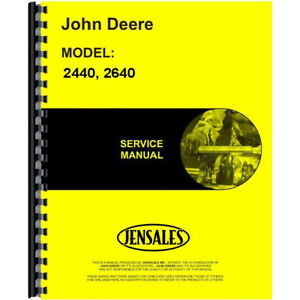 John Deere Service Manual For 2640 Tractor includes 2 Volumes