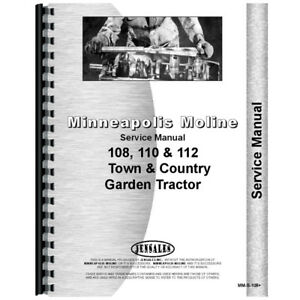 New Service Manual Made For Minneapolis Moline Lawn Garden Tractor Model 110