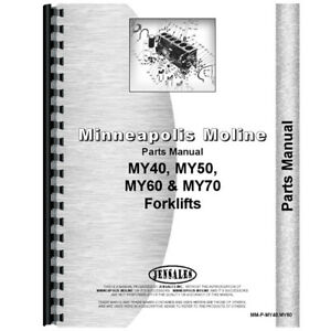 New Parts Manual Made For Minneapolis Moline Forklift Model My70