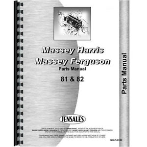 New Massey Harris 8182 Tractor Parts Manual