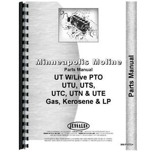 New Engine Parts Manual Made For Minneapolis Moline Tractor Model Uts