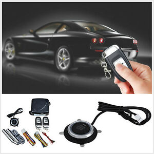 New Car Autos Alarm System Keyless Entry Engine Start Push Button Remote Starter