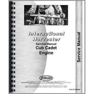 New Tractor Service Manual For International Harvester Cub Cadet Lawn