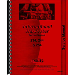 New International Harvester 234 Tractor Service Manual