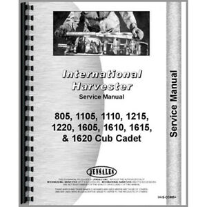 New Tractor Service Manual For International Harvester Cub Cadet 1215 Tractor