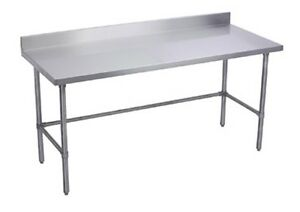 24 X 24 Stainless Steel Open Base Work Table With Welding Cross Bar With 5 Ba