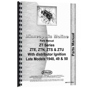 New Parts Manual Made For Minneapolis Moline Tractor Model Ztn