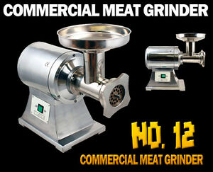 New True 1hp Commercial Stainless Steel Automatic Electric Meat Grinder 12