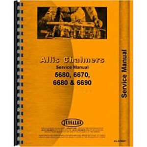 Service Manual For Allis Chalmers 5670 Tractor Diesel 2 And 4 Wheel Drive