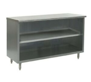 18 X 96 Stainless Steel Storage Dish Cabinet Open Front