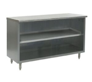30 X 120 Stainless Steel Storage Dish Cabinet Open Front