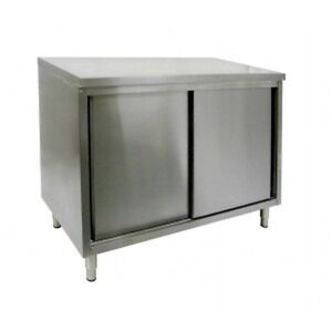 14 X 108 Stainless Steel Storage Dish Cabinet Sliding Doors
