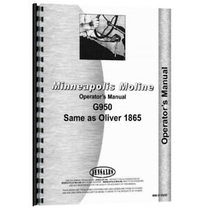 New Minneapolis Moline G950 Operator Manual
