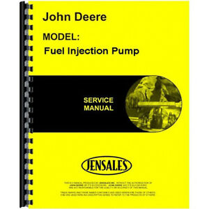 Fuel Injection Pump Nozzle Service Manual For John Deere Jd s sm2045