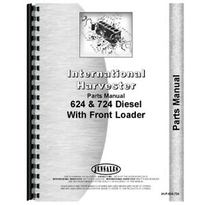 New International Harvester 624 Tractor Parts Manual