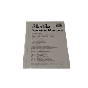 65ftsm Tractor Service Manual For Ford 3000 4000 5000 3400 2000 7000 1965 1975