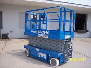 2003 Genie Gs3246 Electric Slab Scissor Man Lift Refurbished In 2017 32 Ht