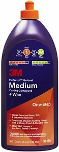 3m 36106 Perfect it Gelcoat Medium Cutting Compound Wax 1 Qt