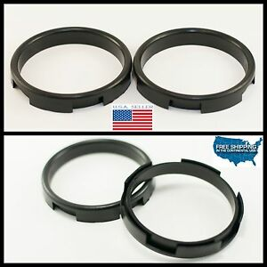 Two Retrofit Headlight Projector Shroud Bezel Centric Rings Spacer Adapters Fxr