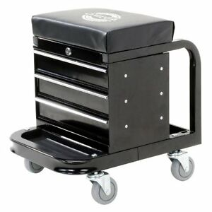 Tool Box With Wheels Truck Organizer Drawers On Rolling Metal Omega 92450 Black