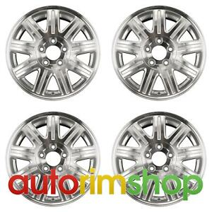Chrysler Town Country 16 Factory Oem Wheels Rims Set Machined With Silver