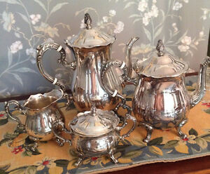 4 Pc Silverplated Tea Service By Leonard