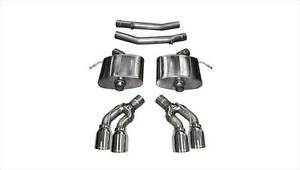 Corsa 2016 2018 Cadillac Cts v Sedan Axleback Exhaust System With Polished Tips