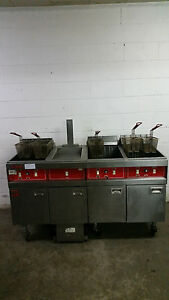 Vulcan Fryer Speri 480v 3 Bank Fryer Dump Filter System 3 Phase Removed Working