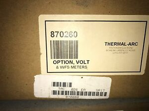870260 Thermal Arc Meter Optional Volt wfs Wire Feed Speed