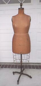 Vintage 1946 Wolf Model 8 1 2 With Cage Dress Form Mannequin