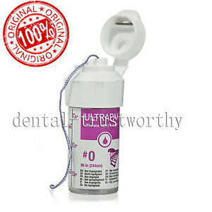 New Ultrapak Dental Gingival Retraction Knitted Cord Packing Ultradent Size 0