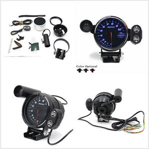 3 5 Tachometer Gauge Blue Led Auto Meter With Shift Light stepping Motor Rpm