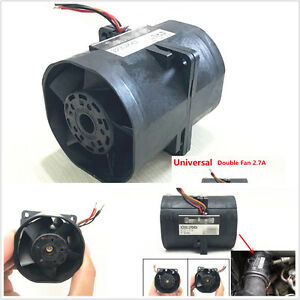 Car Auto Electric Turbine Turbo Double Fan Super Charger Boost Intake Fans 2 7a