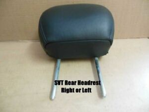 Svt Black Leather Back Rear Seat Headrest Head Rest 2002 2003 2004 Ford Focus