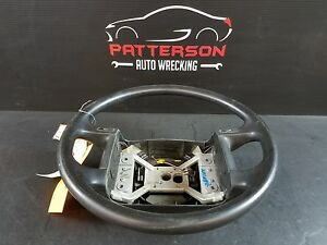 1995 Ford Pickup F150 Steering Wheel W buttons For Horn Black wear Marks
