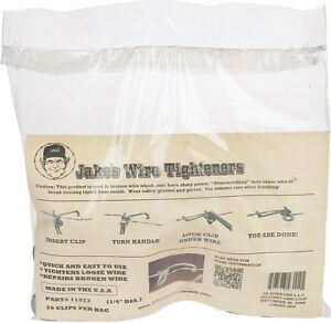 2 Pack Jakes Wire Tighteners 2 Bags Of 20 1 4 Clips Fix Fence Fast Easy Usa