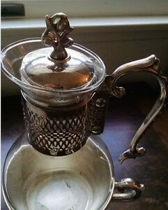 Vintage Electric Silverplate Coffee Carafe Tea Warmer Mid Century English Mcm