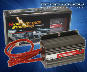 Universal Gunmetal High Efficiency Car Battery Voltage Stabilizer Regulator