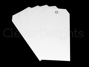 White Plastic Tags 4 75 X 2 375 Tear proof And Waterproof 100 Pack price