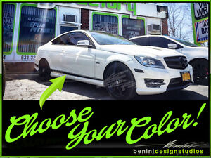 Mercedes Benz W205 C Class Amg Edition 1 Style Side Stripe Sticker Any Color