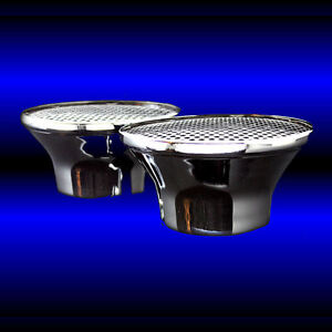 Dual Velocity Stack Air Cleaners For Mopar 318 340 360 361 383 440 Chrome