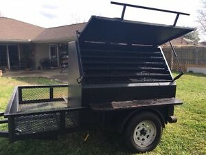 Large Smoker On Trailer