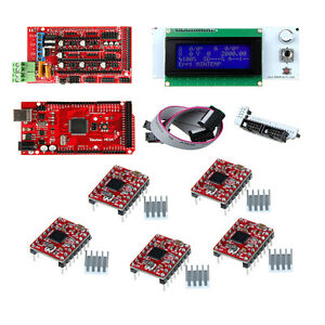 Geeetech Ramps1 4 Controller Board lcd2004 Mega R3 a4988 Driver For 3d Printer
