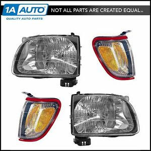 Headlight Parking Light Lamp Lh Rh 4 Piece Kit Red For 01 04 Tacoma Truck New