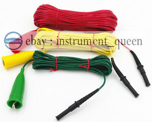 Geo Earth Ground Resistance Tester Meter Test Lead For 4mm Banana Plug