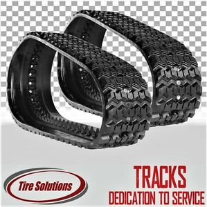 Pair Of Bobcat T190 Rubber Tracks 320x86x49 Camso Ctl Sd Sawtooth Pattern
