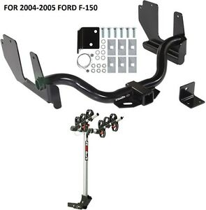 2004 2005 Ford F 150 Trailer Hitch Complete Rola 3 Bike Rack Carrier Package