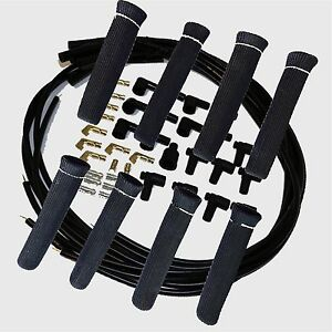 8 5 Mm Blk Spark Plug Wires Hi Temp Suppression Str Ends Hei W Blk Protectors