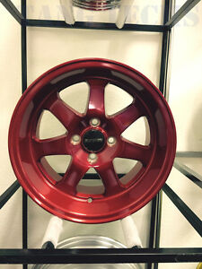 Ryver Wheels Si Brushed Royal Red 15x8 4x100 20 Da Dc2 Eg Ek