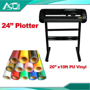 24 Cutting Plotter With Craftedge Software 10ft T shirt Heat Transfer Vinyl